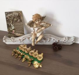 12 vergulde kaars houdertjes (knijpertjes) voor in de kerstboom