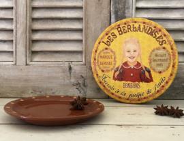 Platte ronde bonbontrommel Les Berlandises La Cure Gourmande