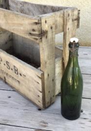 Beugeldop fles, wijnfles, groen Paul Maurel Apt