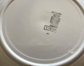 Digoin Sarreguemines Cibon diepe schaal saladière circa 1920