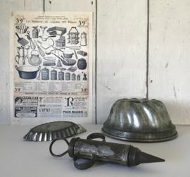 Franse vertinde tulbandvorm bakvorm circa 1930