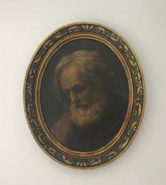 Ovaal ingelijst schilderwerk naar G. Reni Saint-Joseph