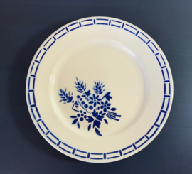 Badonviller ontbijtbordje antiek 1923 semi-porcelaine