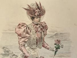 Le Moniteur de la Mode Lithographie kleur Abel Gouband Ed. Paris B