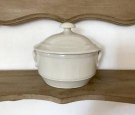 Franse aardewerk pot pastei pot met deksel en oren