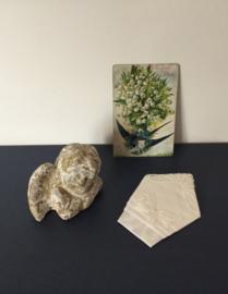 Pochet Tissgar wit gevouwen zakdoekje
