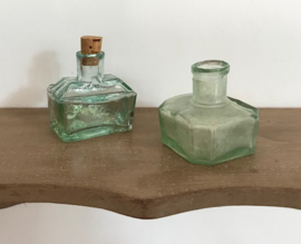 Groen iriserend inktpotje Frans antiek