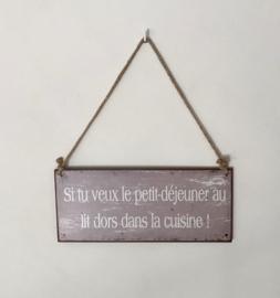 Frans spreuken bord tekstbord