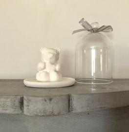 Stolpje glas glazen stolpje met geurbeertje geursteentje geurplateau
