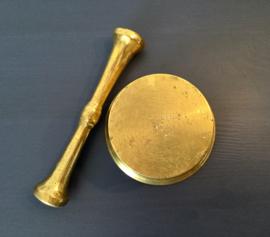 Bronzen vijzel met dubbele stamper