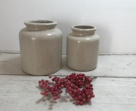 Set grès potten 1 grote van Lab-Lagny en 1 kleine