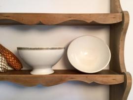 Bowl kom café au lait Frans brocante vergulde decoratie