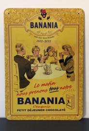 Metalen reclamebord Banania petit déjeuner chocolaté
