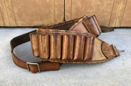 Vintage lederen jachtpatronen riem patroon gordel patronen gordel