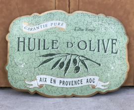 Metalen reclamebord Huile d'olive Aix en Provence