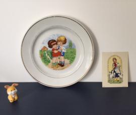 Kinderbordje K.G. Lunéville demi porcelaine