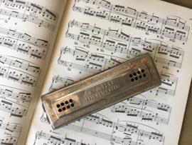 Vintage M. Hohner mondharmonica The Echo Harp Bell metal reeds