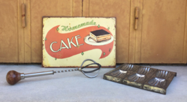 Metalen reclamebord Homemade cake