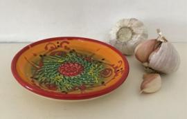 Knoflook raspschaaltje in zonnige kleuren uit de Provence