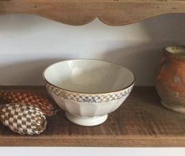 Franse porseleinen royale kom bowl met gouddecor