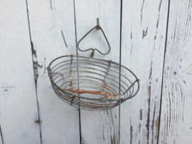 Zeepbakje van zinkdraad, vintage