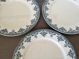 Drie ontbijtbordjes Choisy Le Roi Hte Boulanger & Cie Terre de Fer Bordeaux