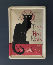 Tournée du Chat Noir blikken reclame kaart metalen reclame affiche