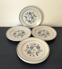 Antieke K & G Lunéville Aronde ontbijtbordjes blauwe bloem