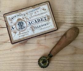 Antiek Frans koperen deegwieltje bakkers wieltje