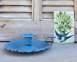 Franse blauwe geëmailleerde blaker