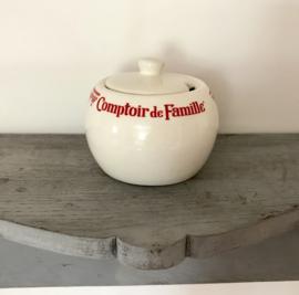 Comptoir de Famille suikerpot met opening voor een lepeltje
