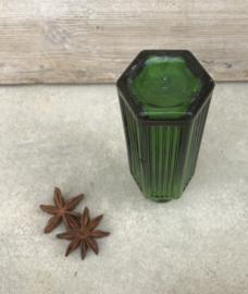 Groen 6-kantig apothekers- of gif flesje