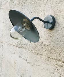 Franse zinken industriële schotellamp wandlamp buitenlamp