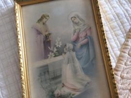 Franse vintage gouden lijst afbeelding 1e communie