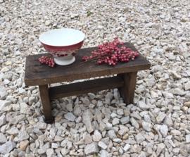 Antiek Frans eikenhouten krukje