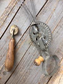 Antiek koperen deegwieltje bakkers wieltje