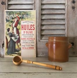 Vintage Franse olijvenlepel