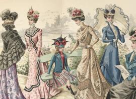 Lithographie Journal des Demoiselles modes de Paris D