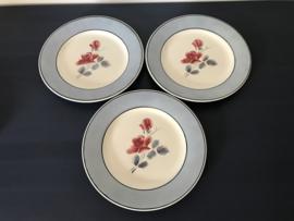 Digoin Sarreguemines model Alain bordje ontbijtbordje 1922-1956 (6 stuks)