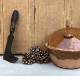 Antiek Frans vleesbijltje hakmes slagersbijltje (gemerkt)