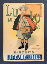 Franse reclamekaart Lu biscuits Lefèvre-Utile