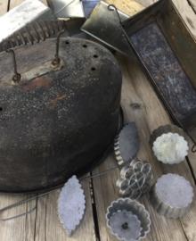 Wafel ijzertjes op schroefbaar op handvat, Frans