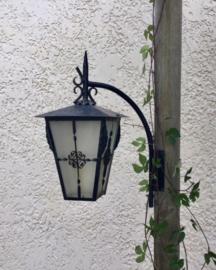 Vintage Franse buitenlamp gevellamp voor hoekbevestiging