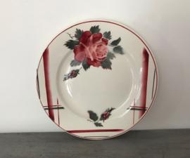 Plat bord Digoin Sarreguemines la Rose 1922-1965