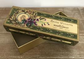Vintage verpakking (doos) van zeep Roger et Gallet Savon Violette