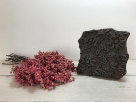 Antieke stofstempel met de hand gesneden stempel uniek