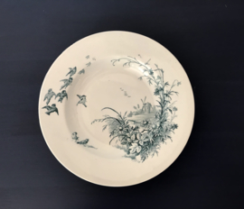 Diep bord Faïence Porcelaines Christaux grand dépot E. Bourgeois