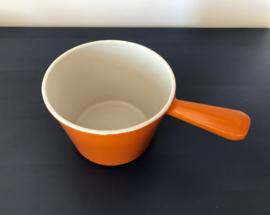 Le Creuset fonduepan oranje geëmailleerd gietijzer