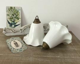 Set keramiek roetvangers roetklokken roetkelken antiek Frans