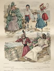Le Moniteur de la Mode lithographie Abel Gouband Ed. Paris H